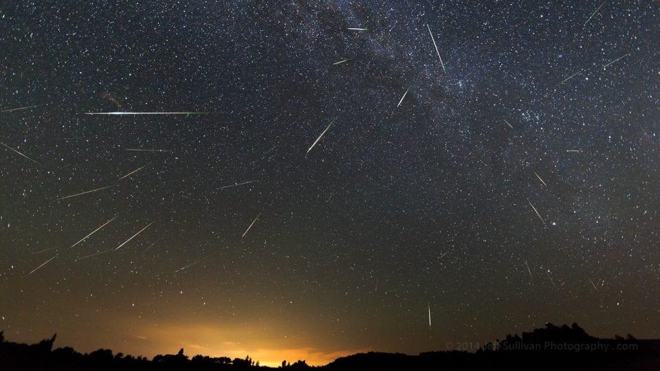 Perseid meteor shower 2013 August 12 40 cumulative meteors