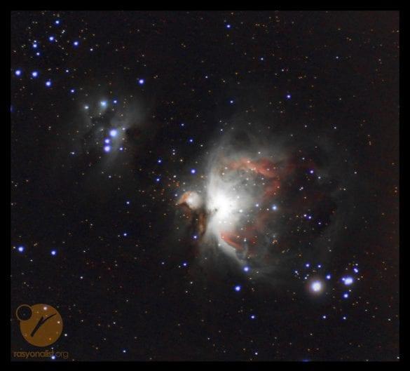 İşlenmiş Orion Bulutsusu. Fotoğrafın son hali.