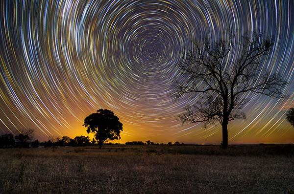 Bir yıldız izi fotoğraf çalışması
