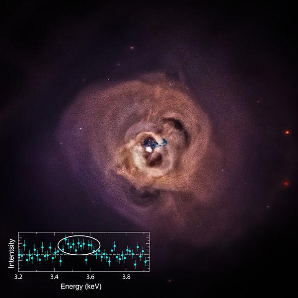 Kahraman Kümesi'nin merkezinin Chandra X-Işını Gözlemevi tarafından alınmış fotoğrafı