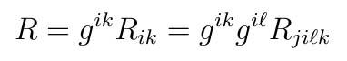 Ricci scalar curvature