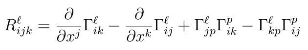 Riemann tensor