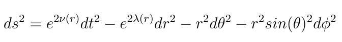 schwarzschild metric
