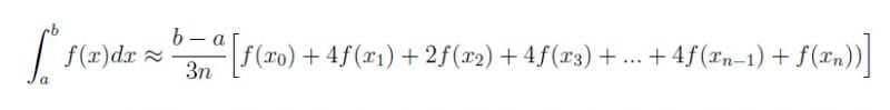 simpsons equation