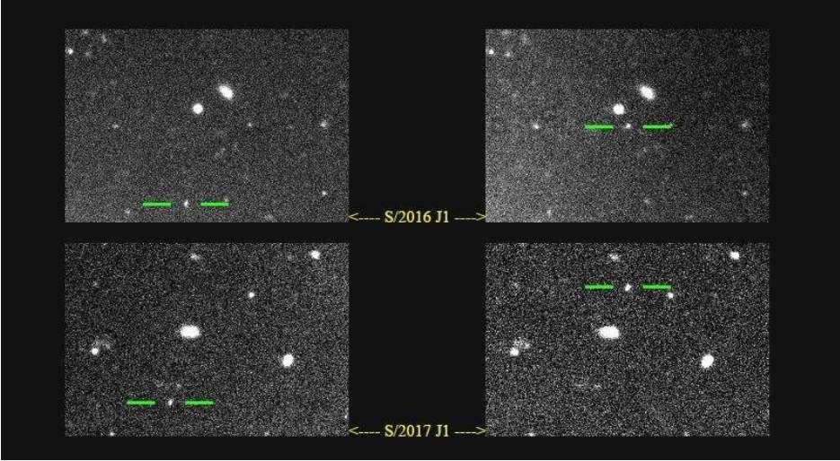 Keşfedilen Uyduların Görüntüleri, Kaynak: Scott Sheppard ve Ark.
