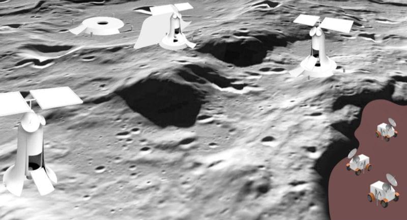 Bir sanatçının gözünden Ay'daki kazı çalışmaları. Telif: Sung Wha Kang (RISD), CC BY-ND