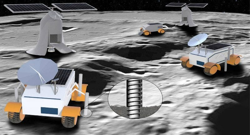 Ay araçlarının sanatçı gözünden tasviri. Telif: Sung Wha Kang (RISD), CC BY-ND