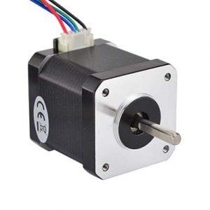 Genellikle tercih edilen ve Tevo Tarantula'da da kullanılan Nema 17HS4401 step motor (1.7A).