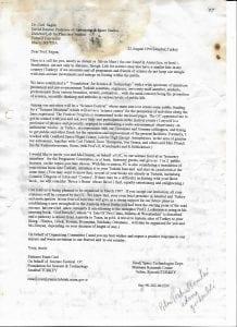 letter to prof. sagan