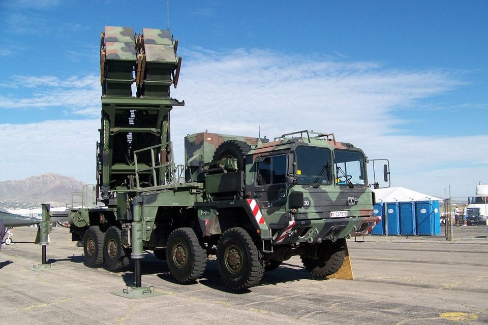 German Patriot missile launcher WP