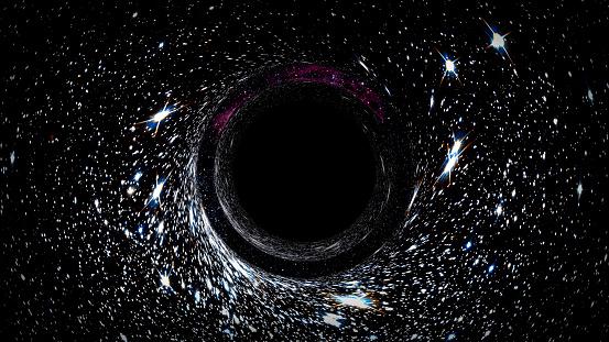 Şekil 3. Geçerli teoriye göre bir Kugelblitz karadeliğinin, oluşum şekli haricinde, normal bir karadelikten farkı olmayacaktır.