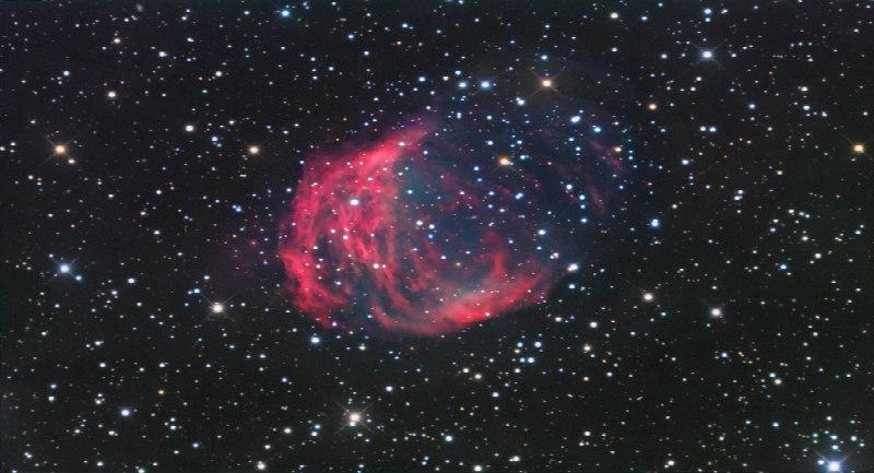 Medusa Bulutsusu'nun Rob Gendler tarafından elde edilmiş bir fotoğrafı.