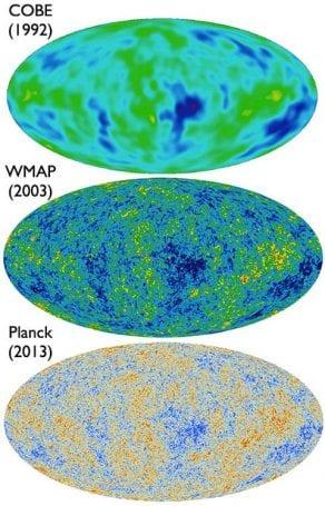 COBE, dalgalanmaları 7 derece hassasiyetinde ölçebilirken WMAP bu değeri 0.3 derecelere kadar çekebilmiştir. Günümüzde 2015 verilerini kullandığımız Planck uydusu ise 0.08 derecelik hassasiyete sahip ölçümler vermektedir.