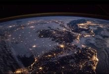 uzaydan dünya gece ISS earth night view