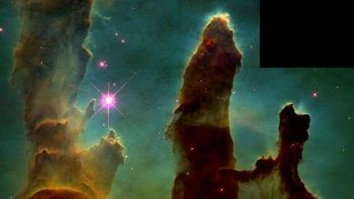 m16 yaratılış sütunları kartal bulutsusu eagle nebula kapak